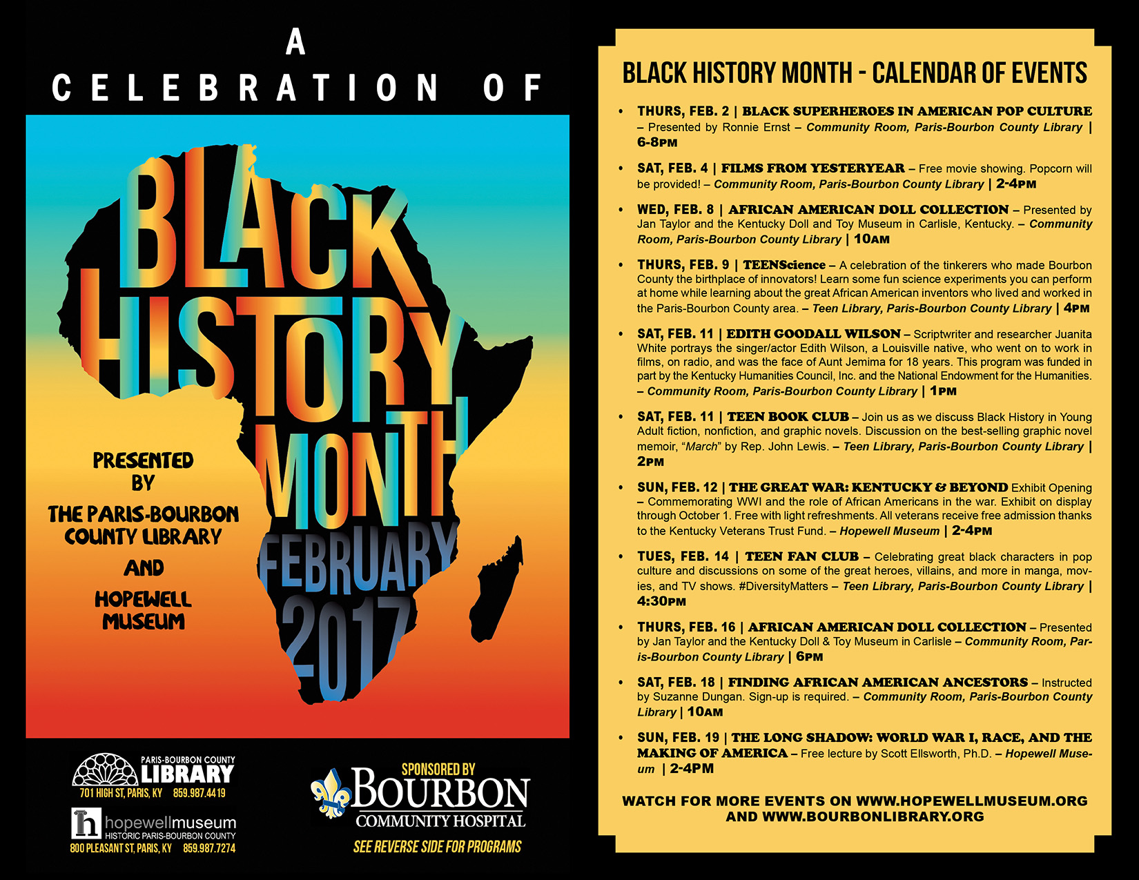 Black History Month Event Flyer