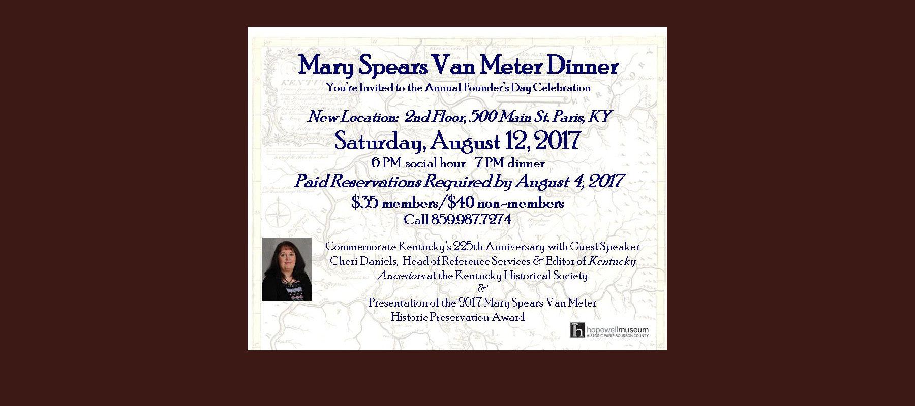 Mary Spears Van Meter Dinner