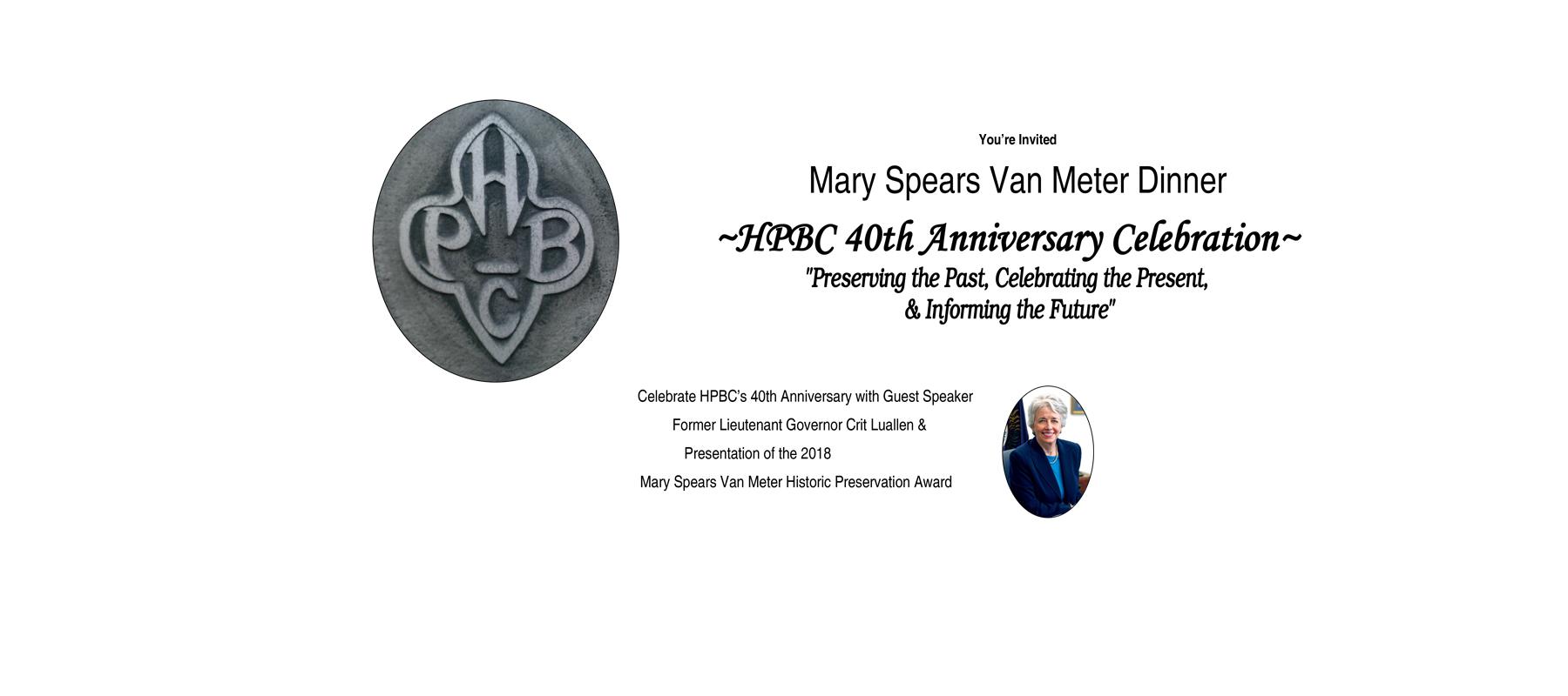 Mary Spears Van Meter Dinner.