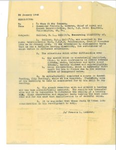 Navy report from 1945 regarding Blanton Collier's hearing