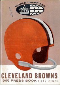 Cover of Browns 1965 media booklet