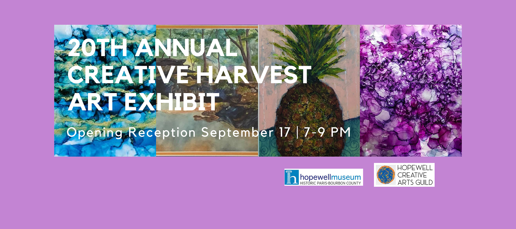 20th Annual Creative Harvest Art Exhibit Opening Reception September 17, 7-9 pm