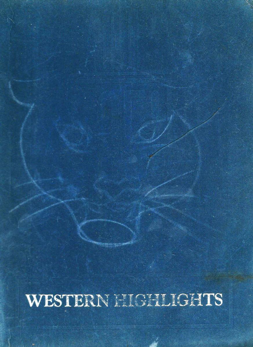 Paris Western School yearbook cover