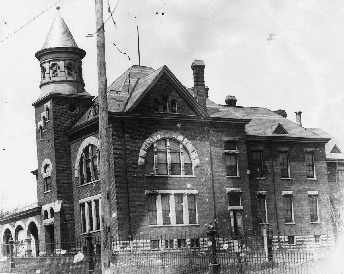 Paris City School Building on 7th Street (1890-1907).